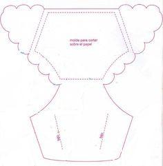 Invitacion para Baby Shower en forma de pañal / manualidades faciles | Manualidades