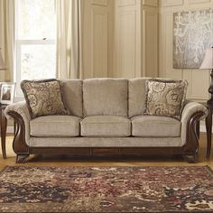Settle onto the Signature Design by Ashley Lanett Sofa for a comfortable movie night or relax while chatting with friends. This sofa features thick. Furniture Design, Furniture Offers, Traditional Furniture, Ashley Furniture Sale, Spring Furniture Sale, Sofa, Furniture, Home Decor, Ashley Furniture Sofas