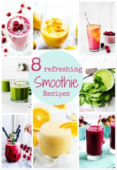 8 Super Simple & Refreshing Smoothie Recipes