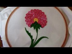 Hand Embroidery: Double Caston Stitch (Brazilian Embroidery) - YouTube