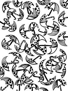 Umbrella doodles, April V. Walters, 2015