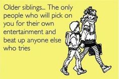40 Best Quotes To Send To Your Brother & Sister On National Siblings Day - Funny Sibling Shirts - Ideas of Funny Sibling Shirts - 40 Best Quotes To Send To Your Brother & Sister On National Siblings Day Siblings Day Quotes, Funny Brother Quotes, Sibling Quotes Brother, Siblings Funny, Brother Humor, Siblings Goals, Brother Birthday Quotes, Sister Quotes Funny, Sibling Memes