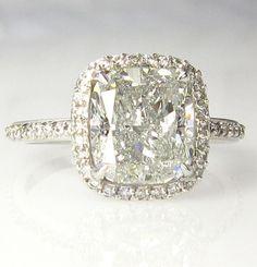 5.07ct Estate CUSHION Diamond Solitaire ...