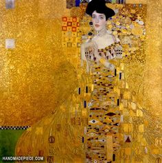 Shop Vintage Art Nouveau Adele Bloch-Bauer I by Klimt Poster created by thnouveau. Personalize it with photos & text or purchase as is! Gustav Klimt, Klimt Art, Paintings Famous, Happy Paintings, Famous Artwork, Portrait Paintings, Adele, Hand Painted Canvas, Canvas Wall Art