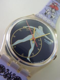 GK141 Swatch 1992 Discobolus Marble Authentic Swiss Made New #Swatch #Fashion