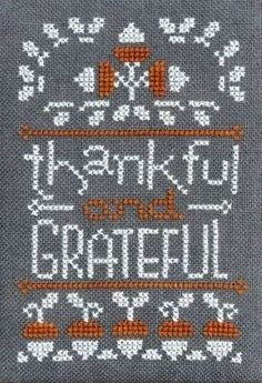 """November A Year In Chalk is the tite of this cross stitch pattern for November that is from Hands On Designs series titled """"A Year In Chalk"""". The two fibers used are Gentle Art Sampler Threads (Chalk, Gingersnap)."""
