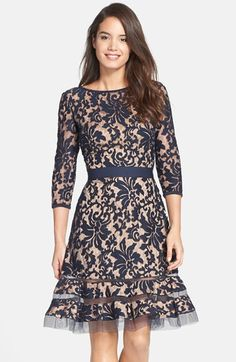 Tadashi Shoji Lace Overlay Dress | Nordstrom