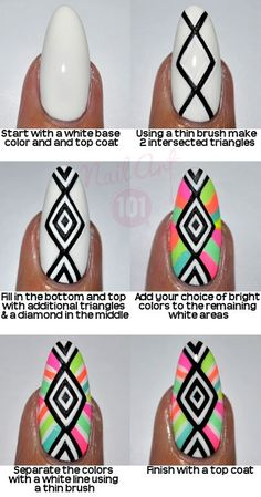rainbow-tribal-nails-tutorial