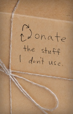 This year, donate what you don't need. #bucketlist