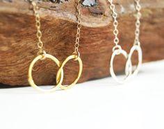 Mau loa necklace gold infinity necklace gold by kealohajewelry
