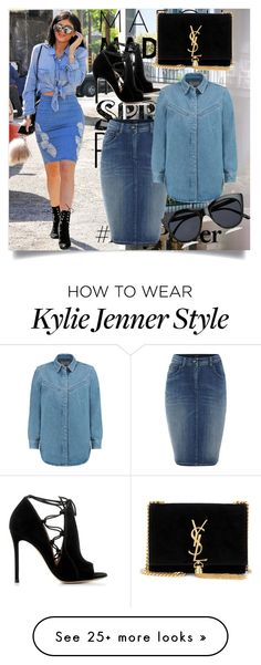"""""""Jeans"""" by betty-boop23 on Polyvore featuring Thomsen Paris, Armani Jeans, MiH Jeans, Le Specs, Gianvito Rossi and Yves Saint Laurent"""