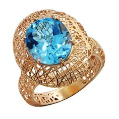 rose gold has been expertly handcrafted into a birds nest design to beautifully complement this oval-cut blue topaz gemstone. Blue Topaz Diamond, Topaz Gemstone, Sapphire, Gemstone Rings, Nest Design, Wedding Wishes, Cocktail Rings, Diamond Rings, Ring Sizes
