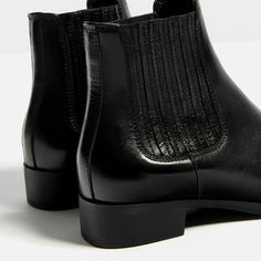 Image 6 of FLAT LEATHER ANKLE BOOTS from Zara