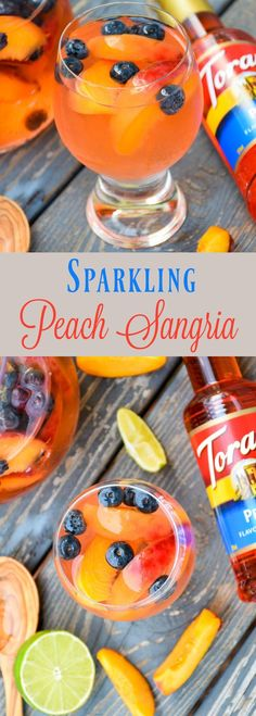 msg 4 21+ Make a splash this summer with Sparkling Peach Sangria! Full of peach flavor, this beverage is refreshing, delicious and perfect for summertime fun! @walmart #MyToraniSummer @ToraniFlavor #ad