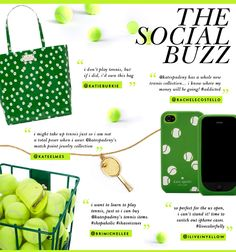 Tennis accessories by Kate Spade.  Especially love the coin purse, can you spot it?!  <3