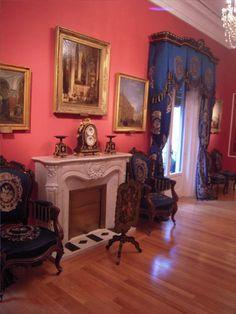 Museo Romántico -Madrid, beautiful blue curtains