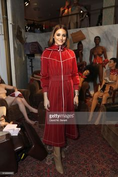 Olivia Palermo attends the Malone Souliers AW18 Presentation during London Fashion Week February 2018 at 12 Hay Hill on February 18, 2018 in London, England.