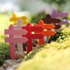 Mini Gardening Wooden Signpost Microlandscraft Terrarium Decoration Garden Showcase Bonsai from Wenjingxu,$0.21 | DHgate.com