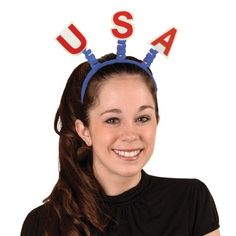 USA Bopper - A great accessory ideal for themed USA themed events or parties. http://www.novelties-direct.co.uk/USA-Boppers.html