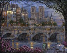 """""""Afternoon by the River Seine, Paris"""" ~ by Robert Finale"""