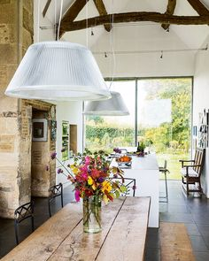 An 18th-century agricultural barn has been lovingly converted to create a charming family home