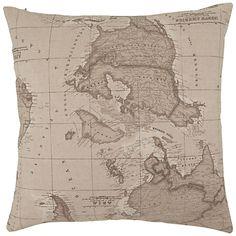 Buy John Lewis Map Cushion, Sepia online at JohnLewis.com - John Lewis