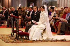 Archduke Christoph of Austria married long-time love Adélaïde Drapé-Frisch in late December 2012. The groom, 24-year-old Archduke Christoph is the son of Princess Marie-Astrid, the Grand Duke's sister. Love the winter wedding gown with the fur trimmed jacket.