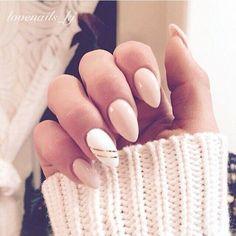 Výsledek obrázku pro almond nails inspiration