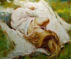 """Afternoon Nap"" ~ 20"" x  24"" Oil - SOLD Artist Kevin Beilfuss"