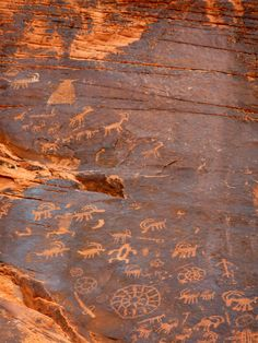 Valley of Fire, Nevada. You can walk right up and touch the petroglyphs.