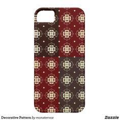 Decorative Pattern iPhone SE/5/5s Case #Decorative #Design #Zazzle #Patterns #Mobile #Phone #Case #Cover #iPhone