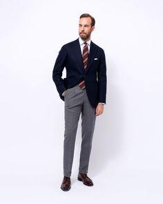 Discover the Orazio Luciano Menswear Collection Business Casual Men, Business Fashion, Men Casual, Suit Fashion, Mens Fashion, Blazer Outfits Men, Grey Suit Men, Color Combinations For Clothes, Elegant Man