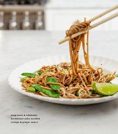 Ginger-Citrus Soba Noodles - please use organic edamame and wheat free tamari