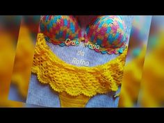 YouTube Crochet Lingerie, Bikinis Crochet, Diy Crochet, Crochet Top, Parte Superior Del Bikini, Crop Top Bikini, Crochet Diagram, Crochet Clothes, Crochet Projects