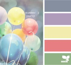 summer party palette by design seeds Yarn Color Combinations, Colour Schemes, Color Patterns, Colour Pallette, Color Palate, Design Seeds, Palette Pastel, Color Harmony, World Of Color