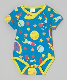 Hollywood Mirror Blue Space Travel Bodysuit - Infant by Hollywood Mirror #zulily #zulilyfinds