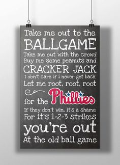 Philadelphia Phillies- Take Me Out to the Ballgame Chalkboard Print
