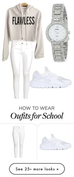 """""""School flow"""" by sarina-thomas15 on Polyvore featuring H&M, Seiko and NIKE"""
