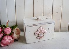 Your place to buy and sell all things handmade French Cottage Decor, Shabby Chic Cottage, Recipe Cards, Recipe Box, Vintage Frames, Nursery Room, Food Storage, Blush Pink, Decorative Boxes
