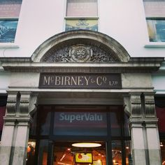 Ghost sign for McBirney & Co. An annual Christmas treat was to visit the wonderful window display at McBirney's on the quays. Dublin Ireland, World History, Vintage Pictures, Folklore, Writing Prompts, Old Photos, Childhood Memories, Townhouse, Places To See