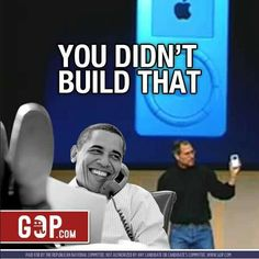 The famous you didn't build it speech.