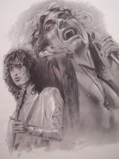 Artwork: jimmy Page and Robert Plant