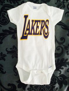 Lakers Onesie w Customized Last Name by ReezThings on Etsy