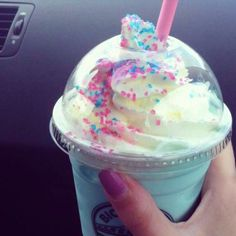 Cotton candy milkshake