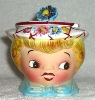 Girl in Hat Cookie Jar