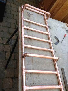 copper pipe bathroom shelves - Google Search
