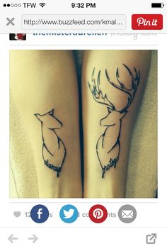 Couple tattoo minus wording