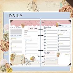 US Half Page UNdated Printable Planner & by myunclutteredlife