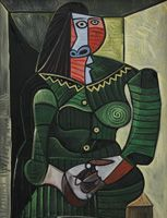Pablo Picasso. Woman in Green, 1944
