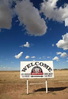 Route 66 - Midpoint Sign Photograph